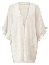 Jigsaw Cut Out Open Beach Cover Up White