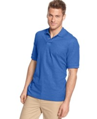 Club Room Short Sleeve Solid Estate Performance Polo Palace Blue
