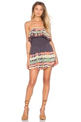 Blue Life Festival Romper Brown