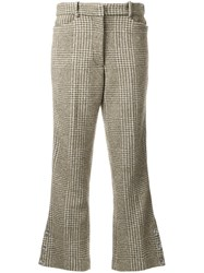 Simone Rocha Houndstooth Flared Trousers Green