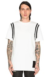 Black Scale Varsity Tee White