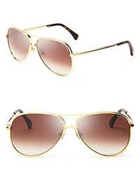 Wildfox Couture Wildfox Airfox Ii Aviator Sunglasses Gold Brown Gradient