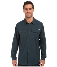 Columbia Silver Ridge Lite Long Sleeve Shirt Night Shadow Men's Long Sleeve Button Up Navy