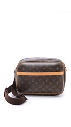 Wgaca Vintage Louis Vuitton Monogram Reporter Bag Brown