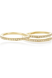 Sophie Bille Brahe Double Spiral 14 Karat Gold Diamond Ring