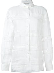 Ermanno Scervino Embroidered Detail Shirt White