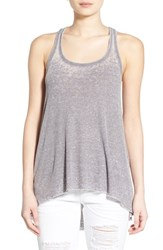 Junior Women's Sun And Shadow Racerback Tunic Tank Grey Opal