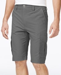 Ocean Current Men's Peached Cargo Shorts Gunmetal