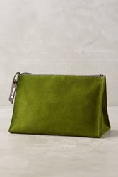 Anthropologie Troika Suede Pouch Green