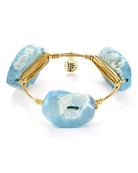 Bourbon And Boweties Blue Agate Bangle