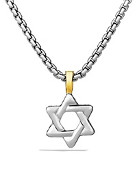 David Yurman Cable Classics Star Of David Cross With Gold On Chain 20 Silver Yellow Gold