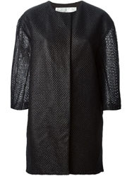 Tsumori Chisato Open Knit Coat Black