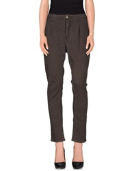 Sexy Woman Casual Pants Dark Brown