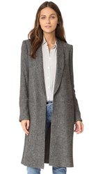 Alice Olivia Kylie Long Shawl Collar Jacket Charcoal
