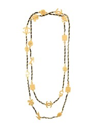 Chanel Vintage Lucky Charm Necklace Metallic