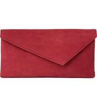 Lk Bennett Leonie Leather Clutch Pin Raspberry