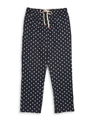 Original Penguin Logo Print Pajama Pants Black