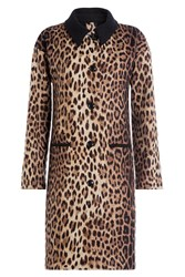 Boutique Moschino Leopard Print Wool Coat Animal Prints
