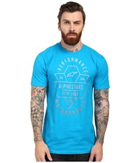 Alpinestars Chevron Tee Turquoise Men's T Shirt Blue
