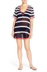 Women's Ted Baker London 'Ciranoa' Stripe Cover Up Tunic