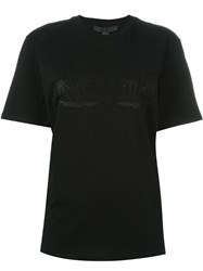 Alexander Wang Embroidered California And Palm Tree T Shirt Black