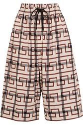 Vivienne Westwood Sumo Printed Stretch Cotton Culottes Brick