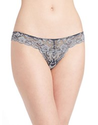 Free People Wild Roses Thong Grey Combo