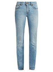 Rockins Mid Rise Straight Leg Jeans Light Denim