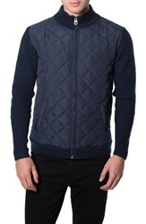 Men's 7 Diamonds 'Gatti' Quilted Panel Lambswool Knit Jacket