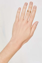 Nasty Gal Luv Aj Barbell 14K Gold Plated 3 Pc Ring Set