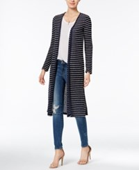 Chelsea Sky Striped Maxi Cardigan Only At Macy's Navy