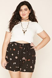 Forever 21 Plus Size Tribal Print Shorts