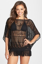 Trina Turk French Lace Tunic Cover Up Black
