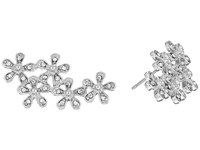 Lauren Ralph Lauren Multiple Flower Stud Earrings Pearl Crystal Earring Silver