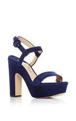 Paul Andrew Stanton Platform Sandals Navy