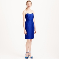 J.Crew Petite Alexia Dress In Slub Silk