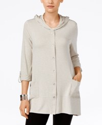 Styleandco. Style Co. Hooded Button Front Cardigan Only At Macy's White Truffle White