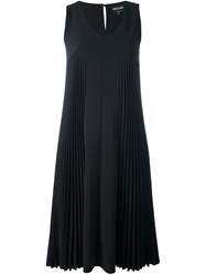 Giorgio Armani Pleated Dress Black