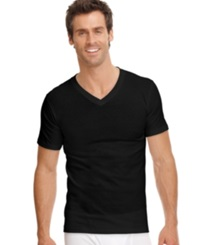 Jockey Men's Underwear Classic Collection V Neck T Shirt 3 Pack Black
