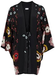 Red Valentino Printed Silk Lightweight Jacket Black
