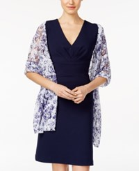 Styleandco. Style And Co. Damask Lace Wrap Only At Macy's Navy