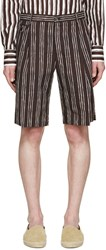 Dolce And Gabbana Black Pinstriped Shorts