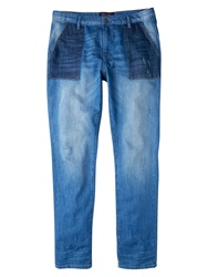 Violeta By Mango Chino Fit Minerva Jeans Open Blue