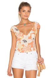 Free People Into The Groove Top Coral