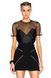 Alexander Wang Ruched Ball Studs Top In Black