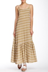 Porridge Tiered Maxi Dress Brown