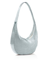 Elizabeth And James Large Zoe Suede Hobo Pale Blue