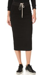 Rick Owens Soft Short Pillar Skirt Black