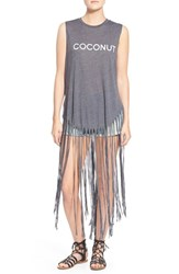 Wildfox Couture Women's Wildfox 'Coconut' Long Fringe Muscle Tank