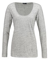 Gap Long Sleeved Top Grey Melange Mottled Grey